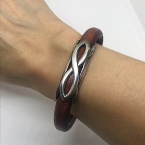 Unisex Genuine Leather Bangle